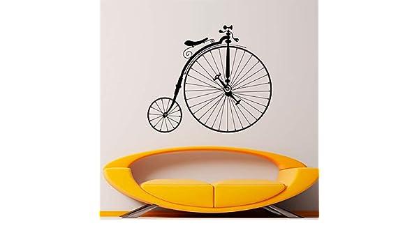 48x42cm Pegatinas de pared para cocina, bicicleta antigua Hipster ...