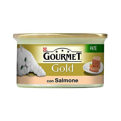 GOURMET GOLD paté de salmón con gr gato mojado 85 - Comida mojado de gatos