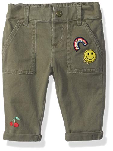 Pant Woven Cotton Crop (Gymboree Baby Girls Woven Crop Pant, Olive Green, 3-6 Mo)