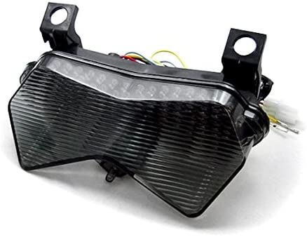 0c7305c1b973a Krator ITL006 Turn Signals (2003-2006 Kawasaki ZX6R ZX6RR 636 Z750S Z1000  LED TailLights Brake Tail Lights with Integrated Indicators Smoke ...