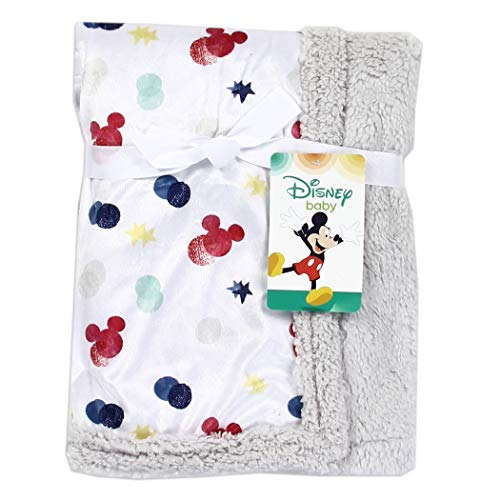 Mickey Mouse Sherpa Blanket Grey