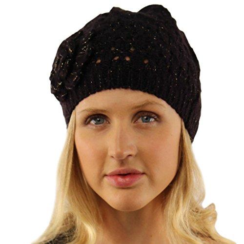 Black Crochet Beanie - 9