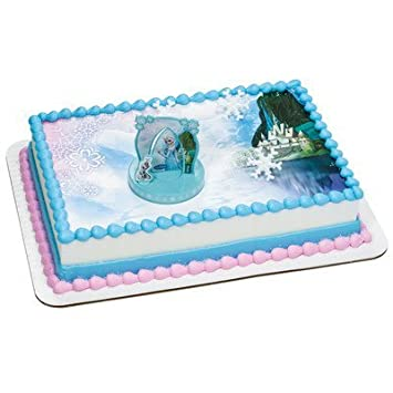 Frozen Cake topper with 12 Sheet Frozen Background Edible Icing