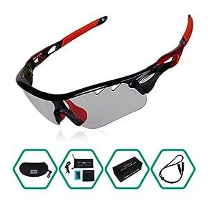 Cycling Glasses, GARDOM Photochromic Sunglasses Polarized for Men Women Fishing