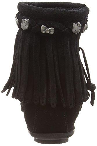 Minnetonka For Hello Kitty Fringe, Botas Mocasin para Mujer Negro (Blackblack)