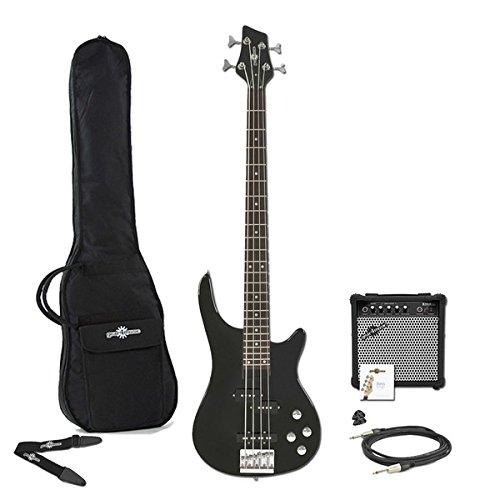 Chicago E-Bassgitarre & Verstärker Paket schwarz