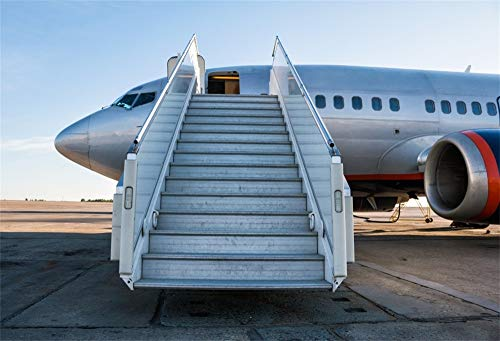AOFOTO 6x4ft Airport Apron Airplane Backdrop for Photography Vinyl Aerodrome Aircraft Boarding Ramp Photo Background Cloth Travel Holiday Vacation Photo Studio Props (Portrait Portrait 6' Apron)
