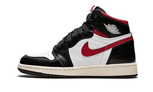 Jordan Air 1 Retro High Og Gs (Black/Gym Red-White Sail 6.5Y) (Air Jordan 1 Retro High Og Gym Red)