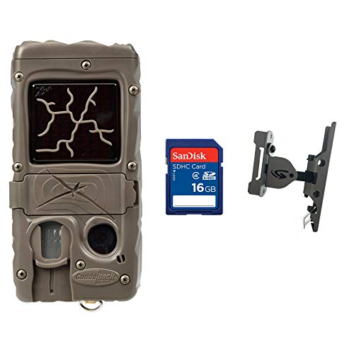 - Cuddeback Dual Flash Game Camera + 16GB SD Card + Game Camera Pan and Tilt Mount