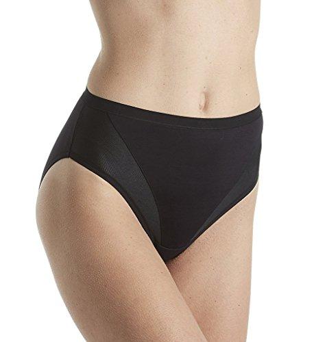 Vanity Fair Women's Sport Hi Cut Panty 13198, Midnight Black, 2X-Large/9