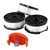 MZS Tec for af-100 Black Decker String Trimmer, 30ft 0.065' Trimmer Lines Auto Feed Lines Replacement Spools with Cap and Spring (3Pack with Accessories)