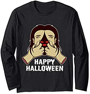 Happy Halloween | Trick Or Treat Happy Halloween Long Sleeve T-shirt | Size S - 5XL