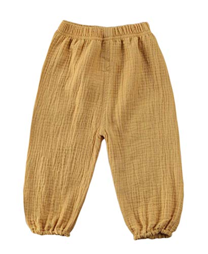 Toddler Kids Cute Baby Boy Girl Casual Eelastic Harem Bloomers Cute Summer Pant (12-18 Months, Yellow)