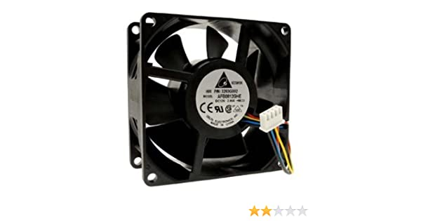 PartsCollection Delta Super High Speed 80x80x38 MM 12V Fan with 100 CFM Air Flow PWM Speed Control
