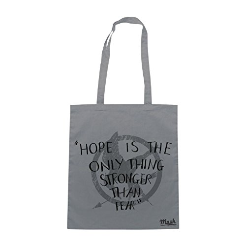 Borsa Hope Is The Only Thing Stronger Than Fear - Hungar Games - Grigia - Film by Mush Dress Your Style