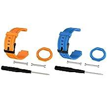 2pcs For Forerunner 225 Watch Bands, Replacement Straps Bands for Garmin Forerunner 225 GPS Running Watch