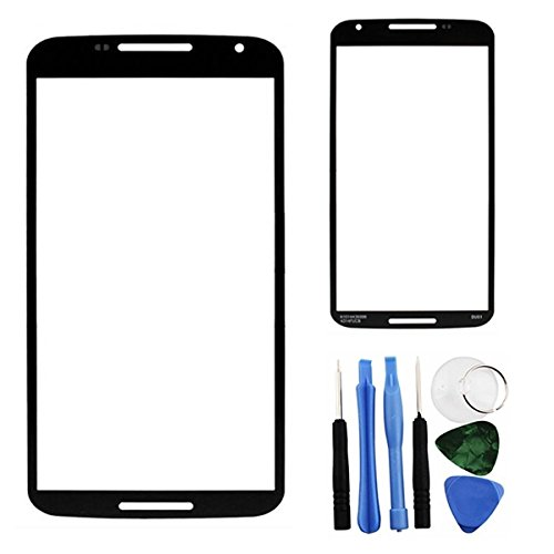 BisLinks® Outer Screen Lens Front Glass + Tools Part for Motorola Google Nexus 6 XT1100