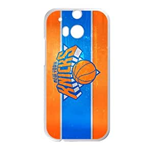 New York Knicks Logo Theme Case for HTC One M8 (Laser Technology)-by Allthingsbasketball by runtopwell