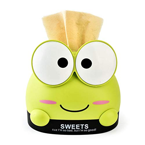 Home Tissue Box, Cartoon Frog Tissue Box Cover Holder Case for Kids Bedroom, Bathroom, Dressers, Automotive Decoration, Desks -Wheat - Frog Tissue