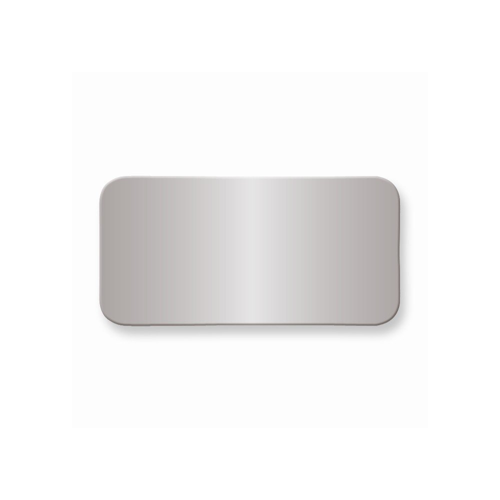 1 X 2 Polished Alum Plates-Sets of 6
