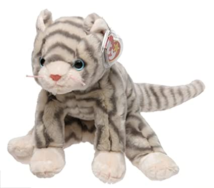 Image Unavailable. Image not available for. Color  TY Beanie Buddy - SILVER  the Cat 0488fd3f0cbd