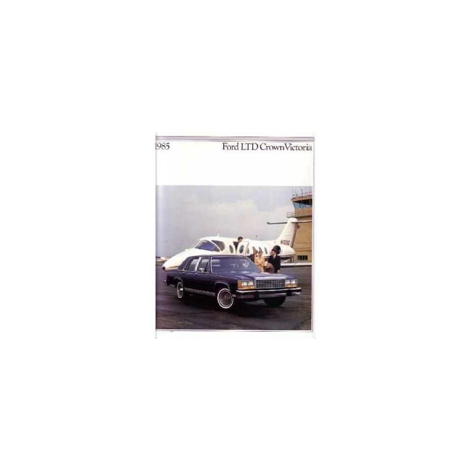 1985 Ford Crown Victoria Sales Brochure Literature Piece Dealer Advertisement