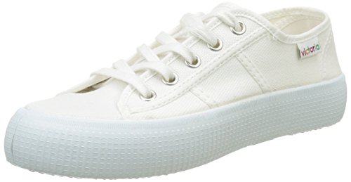 - Victoria Basket Lona Gruesa, Unisex Adults' Low, Blanc (Blanco), 6.5 UK