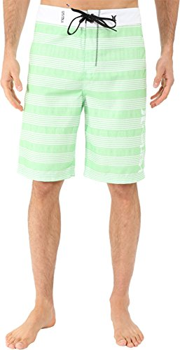 Hurley+Men%27s+Sunset+22%22+Boardshorts+Neon+Green+Swimsuit+Bottoms