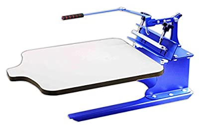 INTBUYING 1 Color 1 Station Silk T-Shirt Screen Printing Machine DIY Fabric Press for T-Shirt Clothing Hats Adjustable Blue