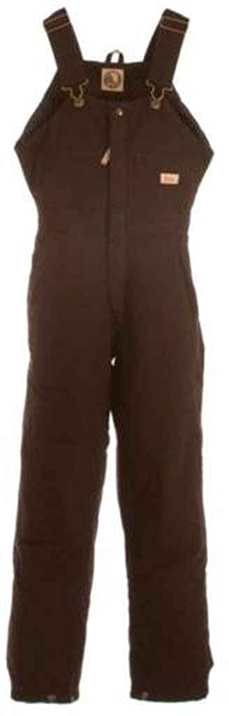 Berne Women's Washed Insulated Bib Overalls Tall Dark Brn ST WB515DBNT