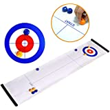 Tabletop Curling Game - Compact Curling Board Game for Family - Family Game for Adults and Kids - Travel Compact Storage