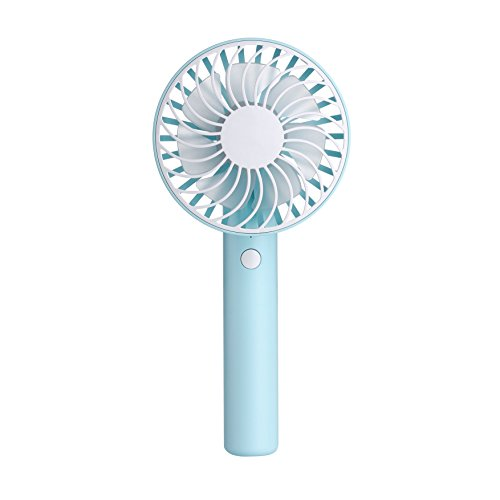 Mini Handheld Fan, YiMiky Foldable Personal Portable Desktop Desktop Cooling Fan with USB Rechargeable Battery Electric Fan for Office Outdoor Home Travel (Blue) by YiMiky