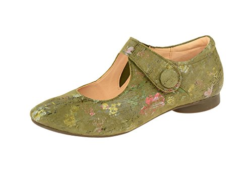 Think! Women's 2-82281-63 Loafer Flats Green