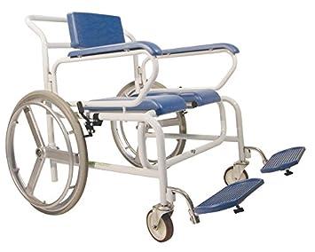 Ayudas dinamicas - Silla ducha xl con ruedas autopropulsable , talla 71cm: Amazon.es: Salud y cuidado personal