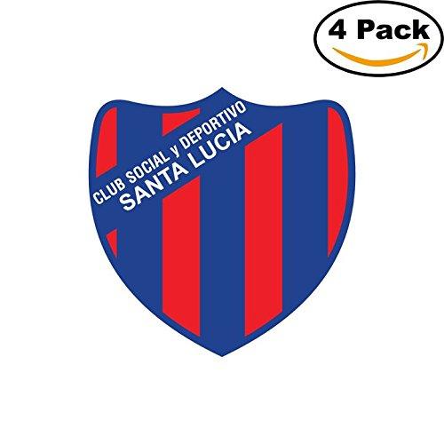 Club Social y Deportivo Santa Lucia de Acheral Argentina Soccer Football Club FC 4 Stickers Car Bumper Window Sticker Decal 4X4