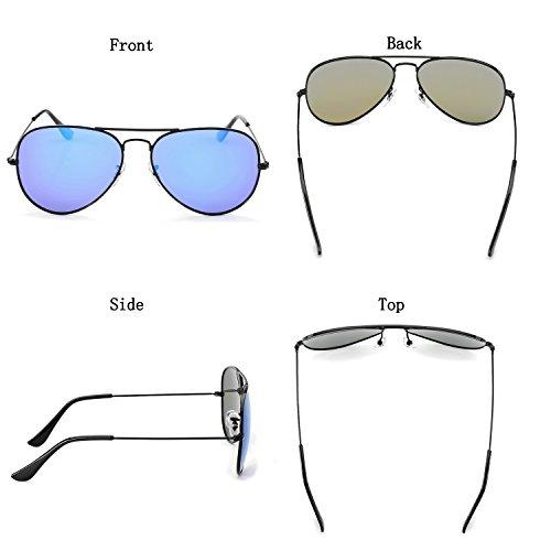 0a1eb15a8f2 YuFalling Polarized Aviator Sunglasses for Men and Women