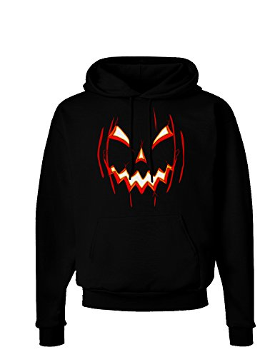 TooLoud Scary Glow Evil Jack O Lantern Pumpkin Dark Hoodie Sweatshirt - Black - XL (Halloween Word Search Print Out)