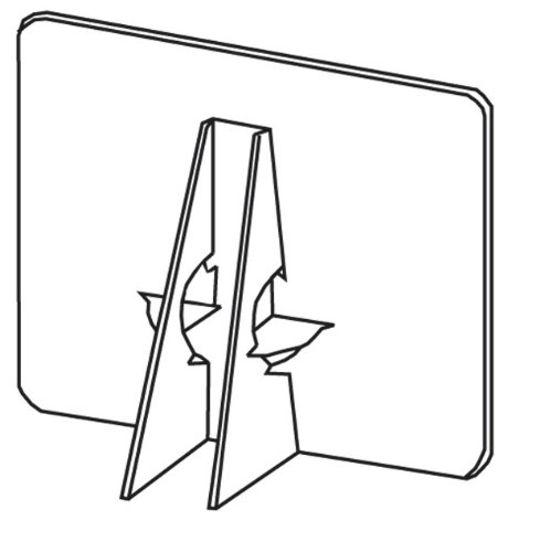 sel Backs 15 in. white pack of 25 (Self Stick Cardboard Easels)