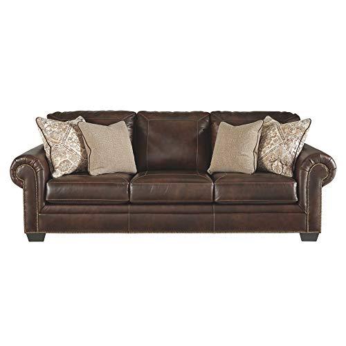 (Signature Design by Ashley 5870239 Roleson Queen Sofa Sleeper, Walnut)