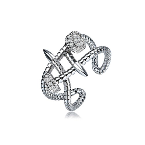 Crystal Austrian Love - Twisted Modern Nail Love Ring Just Love You Austrian Crystal