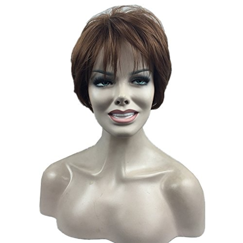 [Aimolee Women Coppy Layered Light Auburn Short Full Wig With Bangs] (Common Costumes Ideas)