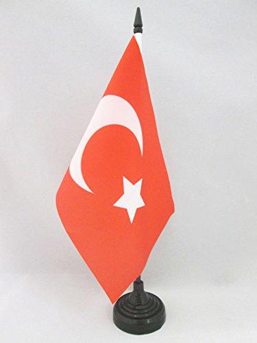 AZ FLAG Bandiera da Tavolo Impero OTTOMANO 21x14cm - Piccola BANDIERINA Sublime Stato OTTOMANO - Turchia 14 x 21 cm