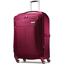 Samsonite Mightlight 30-Inch Expandable Spinner Suitcase, Berry, Checked, Large