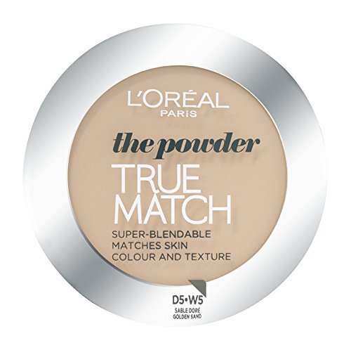 L'Oreal True Match Powder D5 W5 Golden Sand for Women, 9 Gram by L'Oreal