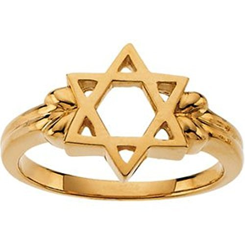 14k Yellow Gold Star of David 12mm Ring, Size 8 by The Men's Jewelry Store (Unisex Jewelry) (Image #4)
