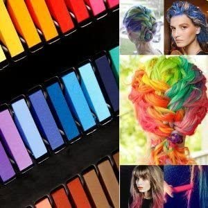 Boolavard® TM 24 Hair Chalk Kit Temporal del Pelo en Colores Pastel Tiza Belleza No Tóxico - Color de la Mezcla de Variedades de Belleza Diseño