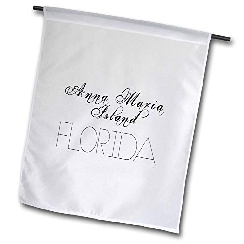 - 3dRose Alexis Design - American Beaches Typography - American Beaches. Decorative Text Anna Maria Island, Florida - 12 x 18 inch Garden Flag (fl_290837_1)