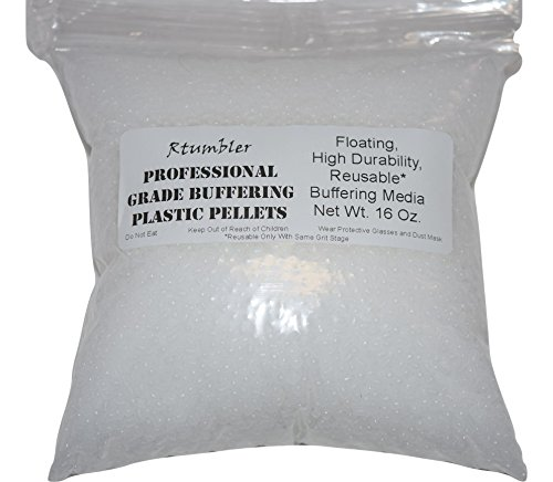 Rock Tumbler Grit for 15 pound Tumbler With 1 Pound Plastic Buffering Pellets by RTumbler Professional Grade Rock Polishing Grit (Image #6)