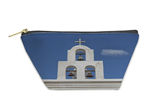 Gear New Accessory Zipper Pouch, Tucson Bell Tower At San Xavier Mission, Large, - Shops Tower Bell At