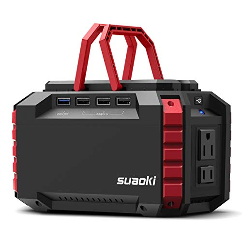 SUAOKI Portable Power Station, 150Wh/100W Camping Generator Lithium Power Supply UL Certified with Dual 110V AC Outlet, 4 DC Ports, 4 USB Ports, LED Flashlights for Camping Travel Emergency Backup